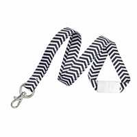 ZigZag Pattern Fashion Lanyard w/ Trigger Hook & Split Ring (Multiple Colors)