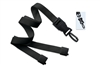 "Black 5/8"" (16 mm) Lanyard with Breakaway & DTACH Plastic Swivel Hook"
