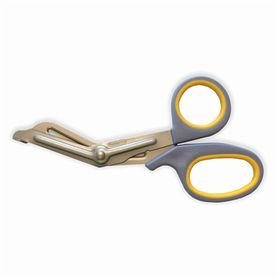 "5.75"" Yellow and Grey Titanium Bonded Bandage Shears / Scissors by Clauss"