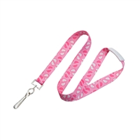 Footprint Lanyard (Blue and Pink)