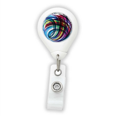 Colorful Swirls Badge Reel