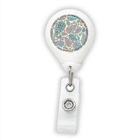 Paisley Pastel Badge Reel