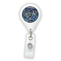 Paisley Purple & Blue Badge Reel