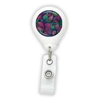 Paisley Purple & Green Badge Reel