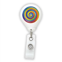 Rainbow Swirls Badge Reel