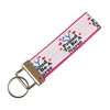 Proud to be a Nurse Pink Border Keychain