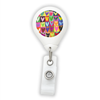 Drawn Hearts Badge Reel