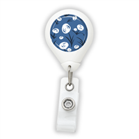 White Flowers Badge Reel