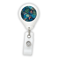 Blue Leaves Badge Reel