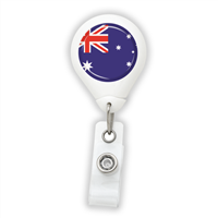Australia Flag Badge Reel
