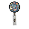 Blue Party Heavy Duty Steel Cord Badge Reel