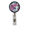 Purpletone Abstract Heavy Duty Steel Cord Badge Reel