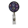 Paw Prints Heavy Duty Steel Cord Badge Reel