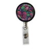 Purple & Green Paisley Heavy Duty Steel Cord Badge Reel