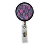Purple Leaves Heavy Duty Steel Cord Badge Reel