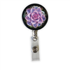 Purple Succulent Heavy Duty Steel Cord Badge Reel