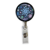 Snowflakes Heavy Duty Steel Cord Badge Reel
