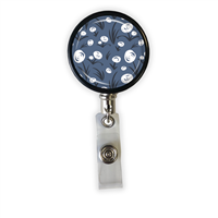 White Flowers Heavy Duty Steel Cord Badge Reel