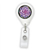 Purple Succulent Badge Reel