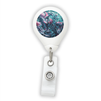 Abalone Shell Badge Reel