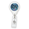 Blue RN Badge Reel