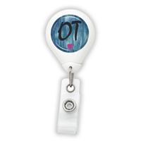 Blue OT Badge Reel