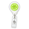 Happy Green Flower Badge Reel