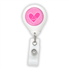 Happy Pink Heart Badge Reel
