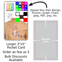 "Custom Index Size Pocket Card 3"" by 5"""