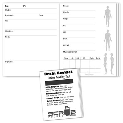 Brain Booklets - Outpatient B Assessment 2pg/pt