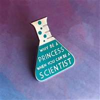 Scientist > Princess Teal Pin