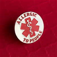 Allergic to People Pin