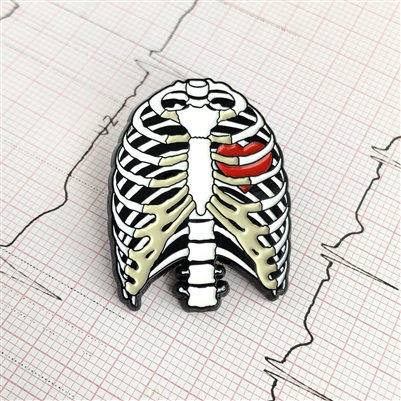 Rib-Caged Heart Pin
