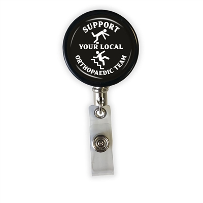 Support Your Local Orthopaedic Heavy Duty Steel Cord Badge Reel