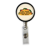 Medical Advice for Tacos Heavy Duty Steel Cord Badge Reel