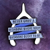 Backbones, Not Wishbones Pin