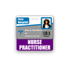 NURSE PRACTITIONER Badge Buddy Horizontal Standard Size