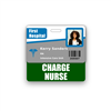 CHARGE NURSE Badge Buddy Horizontal Standard Size