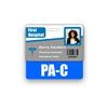 PA-C Badge Buddy Horizontal Standard Size