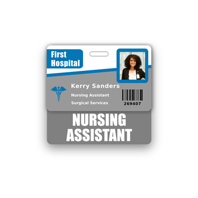 NURSING ASSISTANT Badge Buddy Horizontal Standard Size