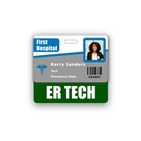 ER TECH Badge Buddy Horizontal Standard Size