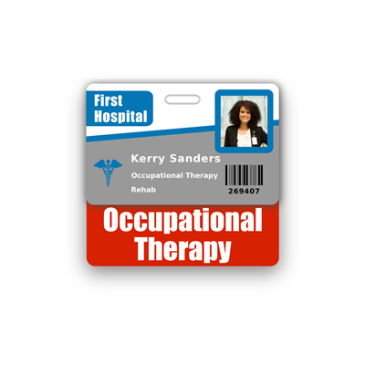 Occupational Therapy Badge Buddy Horizontal Standard Size