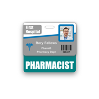 PHARMACIST Badge Buddy Horizontal Standard Size