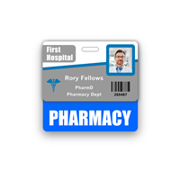 PHARMACY Badge Buddy Horizontal Standard Size