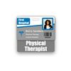 Physical Therapist Badge Buddy Horizontal Standard Size