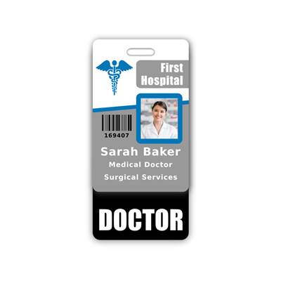 DOCTOR Badge Buddy Vertical Standard Size