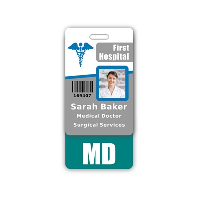 MD Badge Buddy Vertical Standard Size