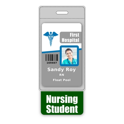 Nursing Student Badge Buddy Vertical Oversized