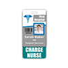 CHARGE NURSE Badge Buddy Vertical Standard Size