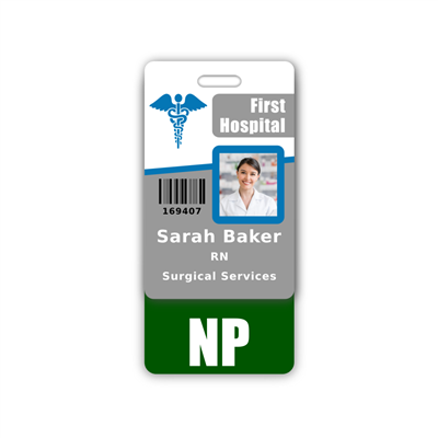 NP Badge Buddy Vertical Standard Size